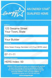 Sample Energy Star Label